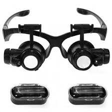<b>Лупа</b>-очки <b>Kromatech налобная</b> 10/15/20/25x, с подсветкой (2 LED ...