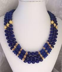 <b>Колье</b> из натуральных камней NEVY <b>BLUE</b> – купить на Ярмарке ...