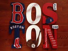 MLB <b>Red</b> Sox 6 Hand Painted Wooden <b>Letters</b> by ArtsyNani on Etsy ...