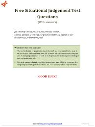 situational judgement test questions copyright employment