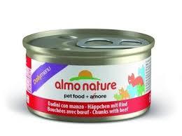 """<b>Almo Nature Консервы</b> для кошек """"кусочки с говядиной"""" (<b>daily</b> ..."""