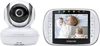 Motorola MBP36S Wireless <b>Video Baby</b> Monitor with <b>3.5 Inch</b> Color ...