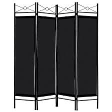 Costway Black <b>4 Panel Room Divider</b> Privacy Screen Home Office ...