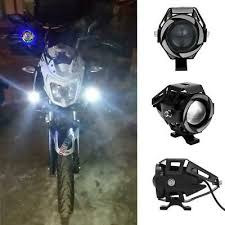 <b>1 Pair 125W</b> U7 CREE LED <b>Motorcycle</b> Spot Lamp Car Front Light ...
