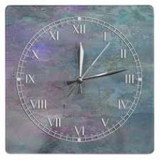 paint bedroom photos baadb w h: teal and lilac abstract clock square