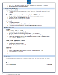 download resume format resumes format for freshers