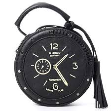 QZUnique Women's PU Tassel Round Clock Shape ... - Amazon.com
