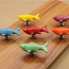 cabinet hardware fishdrawer pulls handles x retro fish ceramic door knob kid room cupboard cabinet drawer pull h