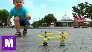 <b>Летающий миньон</b> распаковка игрушки и запуск - YouTube
