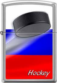 """<b>Зажигалка Zippo</b> """"<b>Российский хоккей</b>"""", цвет: серебристый, 3,6 х 1 ..."""
