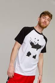 <b>Футболка URBAN CLASSICS Banksy</b> Panda Raglan Tee White/Black