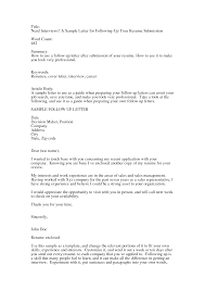 doc follow up letter template com follow up email for resumes template
