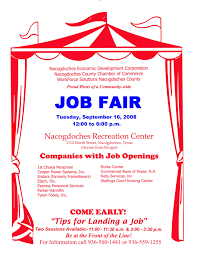 job flyer template teamtractemplate s job fair on tuesday sept 16 at city recreation center nacogdoches yt8yp8c2