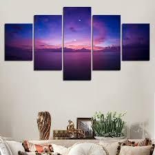 BUY WALL ART: Beautiful <b>Purple Sunset</b> over Ocean Skyline ...