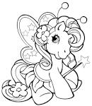 Раскраска пони фили онлайн