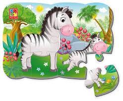 <b>Пазл Vladi Toys</b> Зебра (VT3205-56), 12 дет. — купить по ...