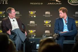 prince harry former president bush stress importance of healing image link