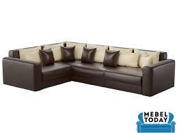 Угловой <b>диван</b>-<b>еврокнижка Мэдисон Long</b> эко-кожа коричневая ...