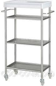 Тележка <b>IKEA Грундталь</b> Нержавеющая сталь 601.714.33 ...
