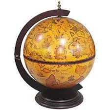 Shop Merske 16.5-inch Italian Replica <b>Tabletop Globe Bar</b> ...