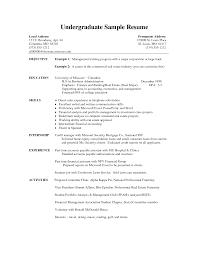best photos of undergraduate internship resume samples undergraduate college student resume example