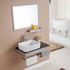steel bathroom cabinet single cm  inch  grade stainless steel single sink bathroom cabinets with gla