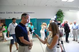 file pete benjamin field supervisor raleigh field office file pete benjamin field supervisor raleigh field office conducting interview sarah murphy from wway tv3 before the public hearing started in