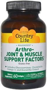 Country Life <b>Arthro Joint & Muscle</b> Support Factors, 60 Softgels Price ...
