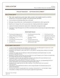 project manager resume skills getessay biz software project manager in sacramento ca resume sheila eaton by for project manager resume