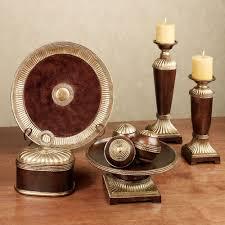 charger plates decorative: azle decorative home accents bronze set of nine