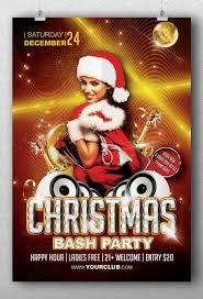 christmas bash party flyer template flyerroom