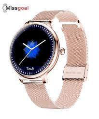 <b>Missgoal</b> NY12 New Arrival <b>Stylish</b> Women <b>Smart Watch</b> Round ...