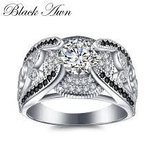 [<b>BLACK AWN</b>] 5.4Gram <b>Genuine 925</b> Sterling Silver Jewelry Rings ...