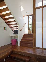 open stair treads staircase contemporary home renovations with understair office small office alcove alcove contemporary home office
