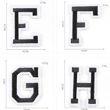 <b>Pulaqi</b> Wholesale 26 English Letter Patches Set Sew On Iron on T ...