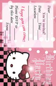 hello kitty birthday invitations com hello kitty birthday invitations