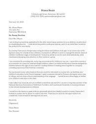 cover letter recommendation letter nanny letter of cover letter cover letter examples nanny jobs cv template references recommendation letter nanny letter