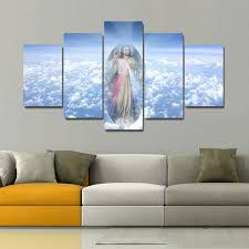 Jesus <b>5 Pieces set HD</b> Canvas Posters Prints Wall Art Painting