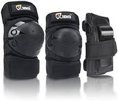 JBM Adult/Child Knee Pads <b>Elbow</b> Pads Wrist Guards <b>3 in 1</b> ...