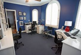 double blue office contemporary home office blue home office