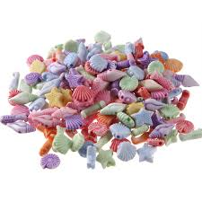 <b>100pcs Mixed Color Acrylic</b> Sea Animal Series Spacer Beads For ...