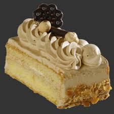Mocha Cream Cake Slices