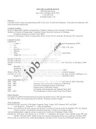 sample of a resume resume format 2017