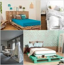 bed of euro pallets themselves make diy furniture building bedroom furniture