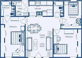 Low Income Residential Floor Plans by Zero energy Design® Bedroom  Bathroom        x      Two Bath Core Module  Home Floor Plan