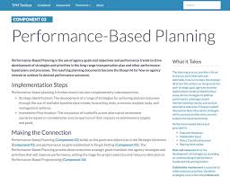guidebook tpm toolbox thumbnail image of component 03 summary webpage performance based planning is the use of