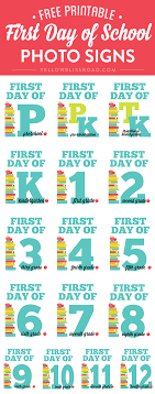 first day of school chalkboard printables printable first day of school photo signs