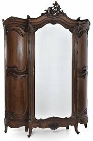 grand regence walnut triple armoire furniture antiques armoire antique armoire furniture