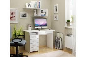 Купить <b>Письменный стол Милан</b>-<b>1</b> белый/белый глянец с ...