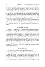 foundational mathematics content mathematics learning in early page 22